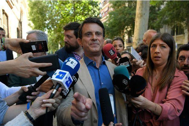 Manuel Valls, dimanche à Barcelone.