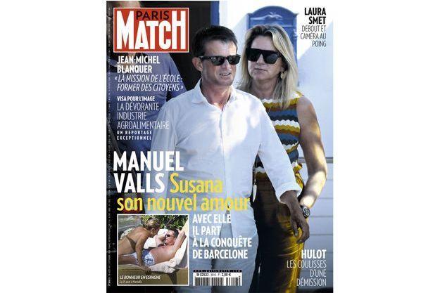 Manuel Valls et son nouvel amour en une de Paris Match n°3616