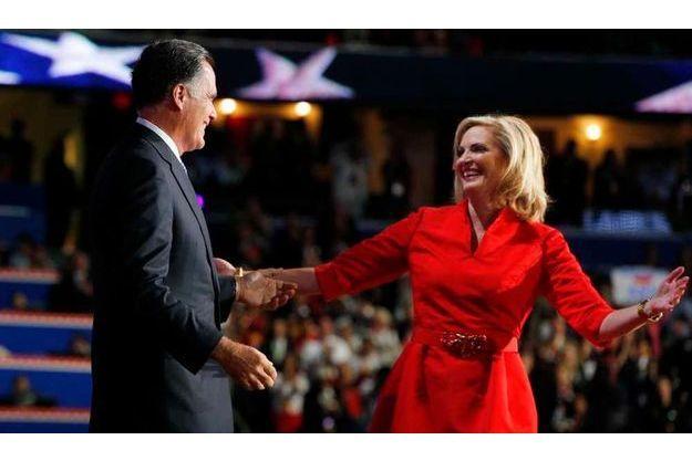 Ann Romney était la première supportrice de son mari, mardi soir.