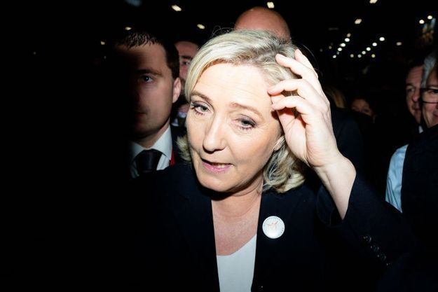 Marine Le Pen au salon de l'agriculture, le 28 février 2019.