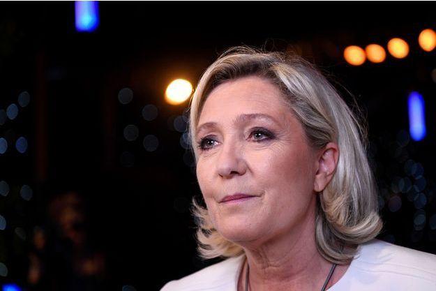 Marine Le Pen ici dimanche 26 mai lors de la soirée électorale des européennes.