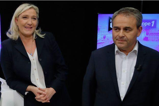 Marine Le Pen et Xavier Bertrand le 27 octobre dernier.
