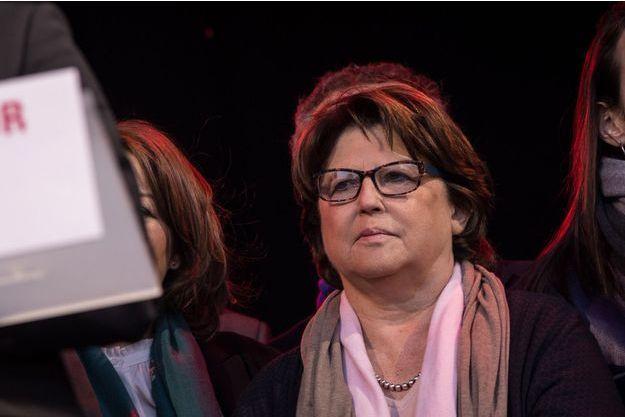 Martine Aubry, en avril 2017 à un meeting de Benoît Hamon à Paris.