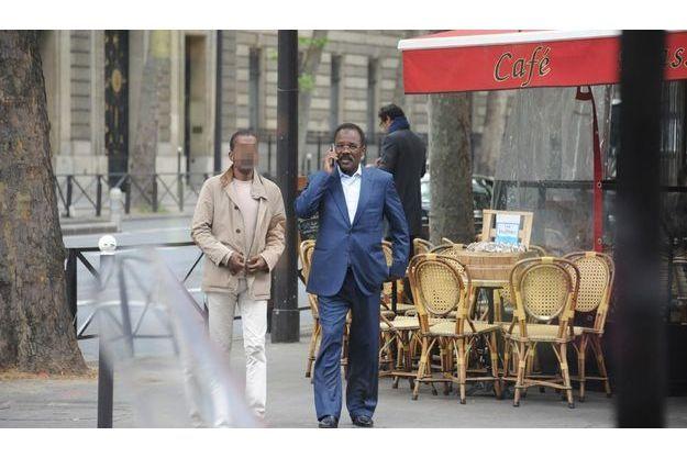 Bachir Saleh, ce matin, rue de Solferino à Paris dans le VIIe arrondissement.