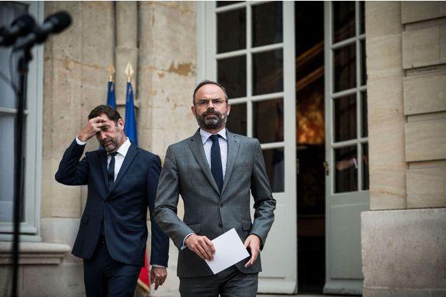 Christophe Castaner et Edouard Philippe lundi à Matignon.