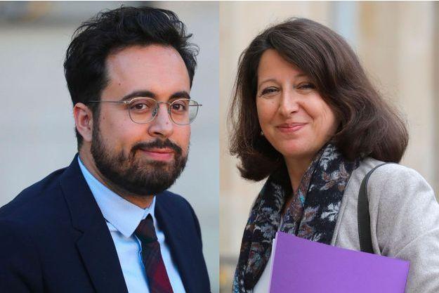 Mounir Mahjoubi et Agnès Buzyn à l'Elysée.