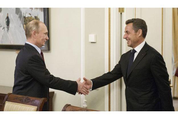 Vladimir Poutine et Nicolas Sarkozy, mercredi, près de Moscou.