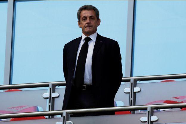 Nicolas Sarkozy ici à Kazan en juin pour le match France - Australie