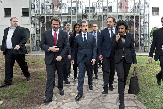 A Buenos Aires: Rachida Dati, Eric Woerth, Nicolas Sarkozy, Luc Chatel
