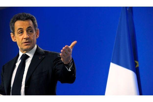 Nicolas Sarkozy à Bruxelles, lundi.