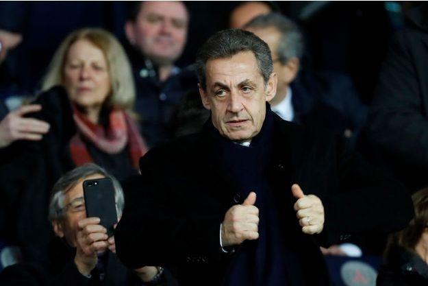 Nicolas Sarkozy au Parc des princes le 24 janvier dernier.