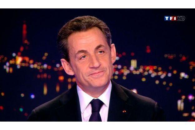Nicolas Sarkozy sur TF1, mercredi.