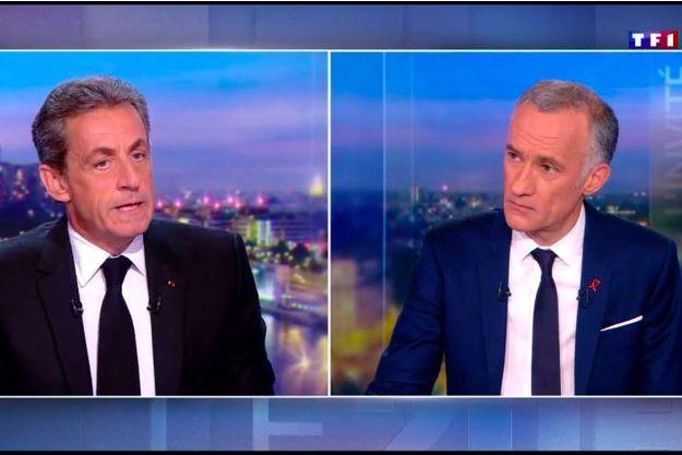 Nicolas Sarkozy face à Gilles Bouleau, jeudi soir sur TF1.
