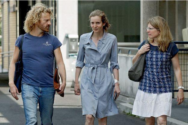 Nathalie Kosciusko-Morizet, entourée de son frère, Pierre, et de sa sœur, Caroline,