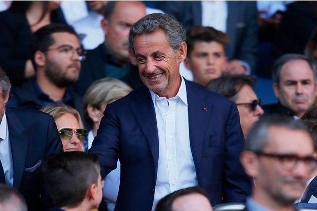 Nicolas Sarkozy au Parc des Princes à Paris, le 25 août.