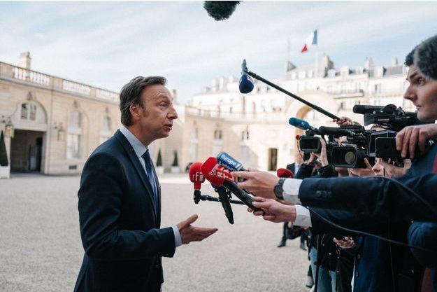 Stéphane Bern, chargé de mission sur le patrimoine auprès d'Emmanuel Macron, à l'issue de la réunion.