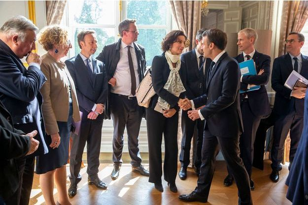Emmanuel Macron avait reçu une délégation de l'Unesco mercredi.