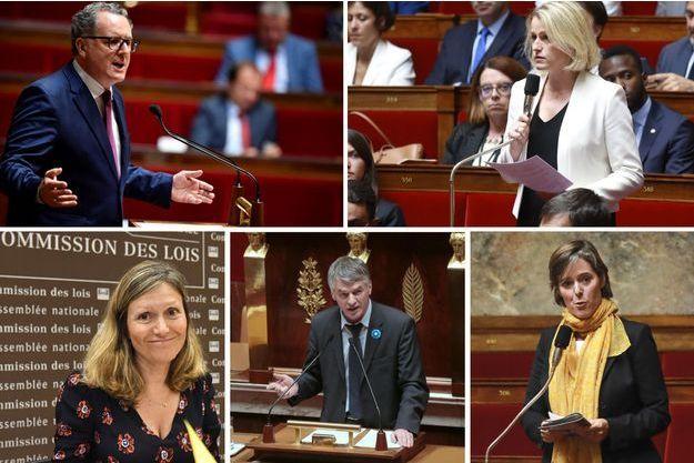 Les candidats Richard Ferrand, Barbara Pompili, Yaël Braun-Pivet, Philippe Folliot et Cendra Motin