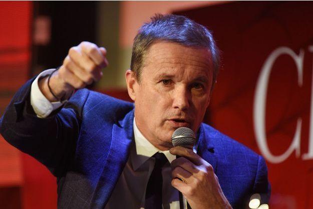 Nicolas Dupont-Aignan à Paris jeudi.