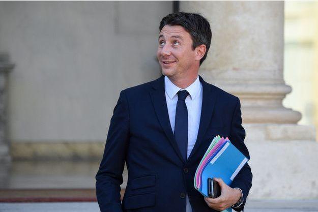 Benjamin Griveaux à sa sortie du Conseil des ministres mercredi 10 octobre.
