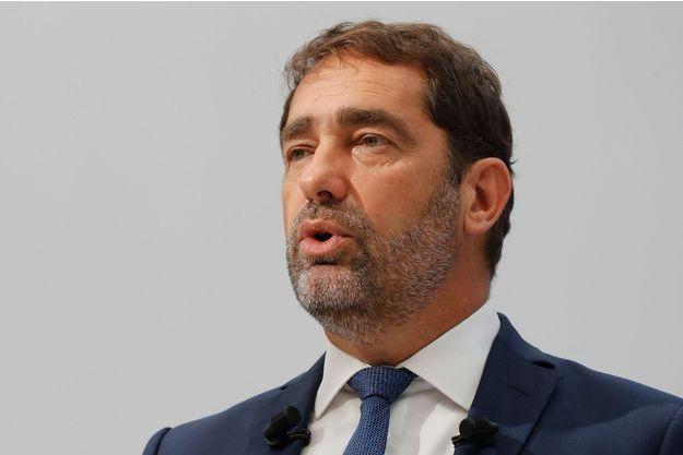 Christophe Castaner lors de la conférence de presse donnée à Paris le 14 septembre 2018.