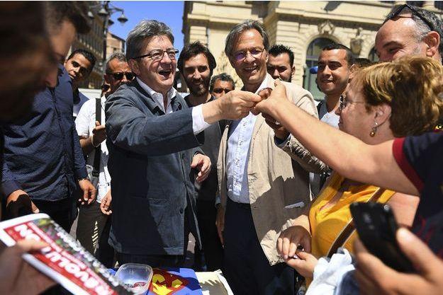 Jean-Luc Mélenchon à Marseille jeudi lors d'une manifestation contre les projets de réforme du droit du travail.