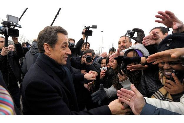 Nicolas Sarkozy mardi à Bourgoin-Jallieu, sur le site de PhotoWatt.