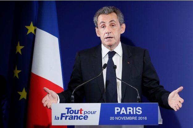 Nicolas Sarkozy le 20 novembre dernier.