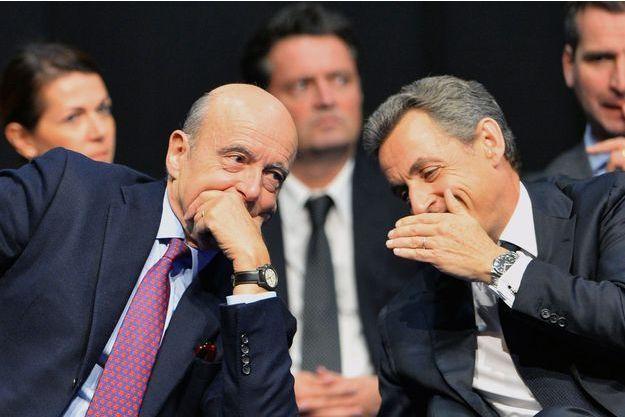 Alain Juppé et Nicolas Sarkozy le 14 octobre dernier à Limoges.