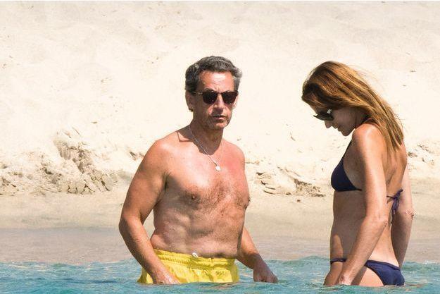 Nicolas et Carla Sarkozy à Murtoli, en Corse du Sud, le week-end dernier.