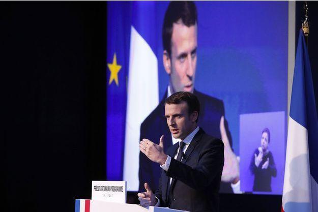 Emmanuel Macron présente son programme, jeudi