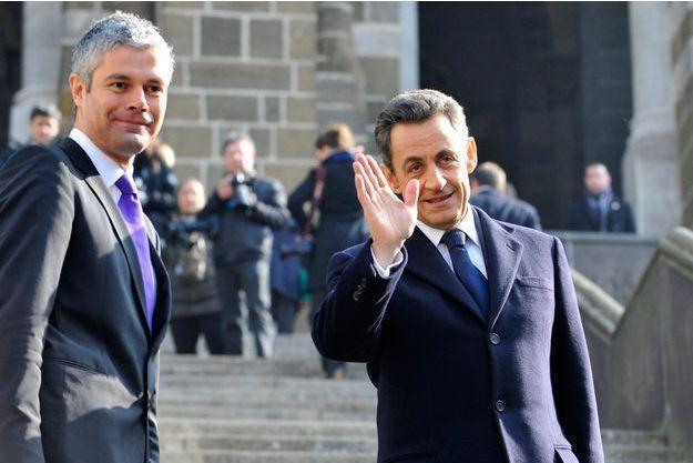 LAurent Wauquiez et Nicolas Sarkozy, ici lors d'un déplacement au Puy-en-Velay en 2011.