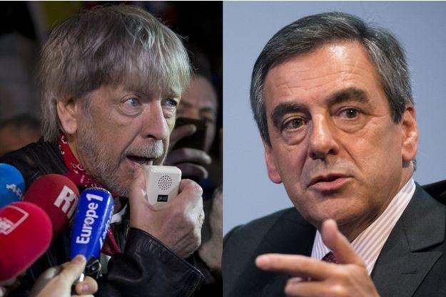 Renaud en janvier 2016 et François Fillon à Neuilly-sur-Seine le 25 mai.