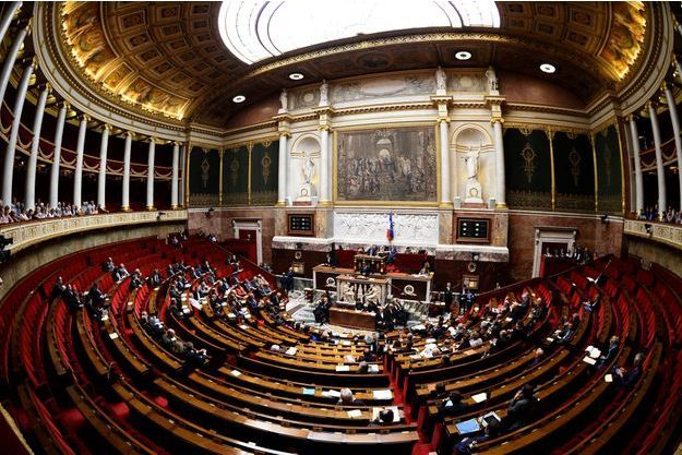 L'hémicycle de l'Assemblée nationale en 2015.
