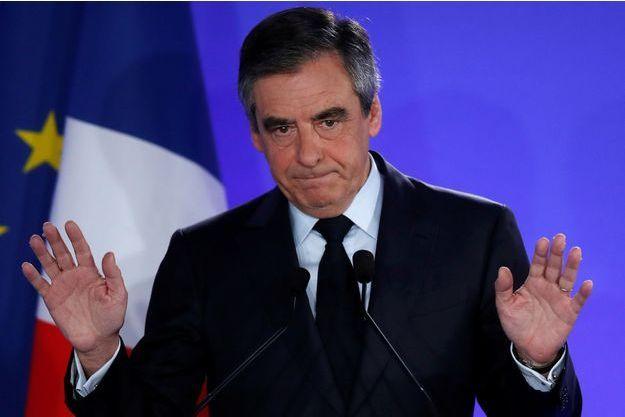 François Fillon, au soir du premier tour de la présidentielle.