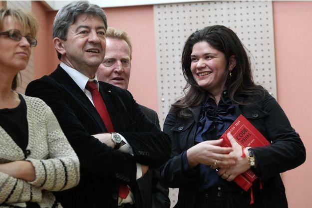 Jean-Luc Mélenchon et Raquel Garrido à Lille, en juin 2012.