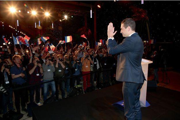 Dimanche 26 mai au QG du RN, Jordan Bardella célèbre les résultats de son parti arrivé en tête des européennes.