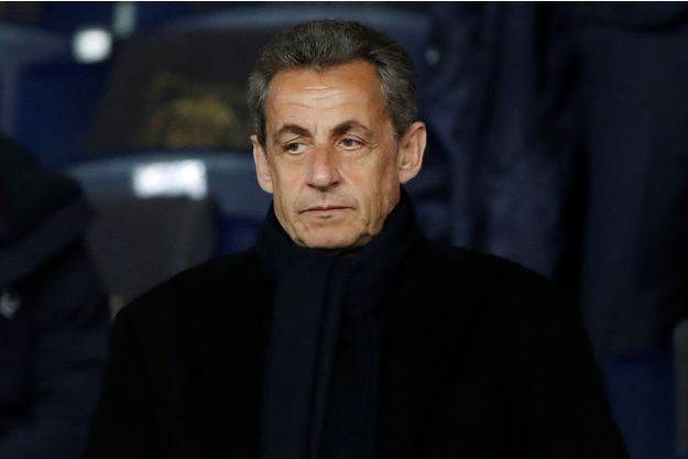 Nicolas Sarkozy mardi soir au Parc des Princes pour le match PSG - Real Madrid