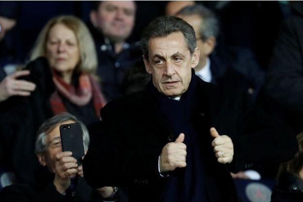 Nicolas Sarkozy, ici au Parc des Princes fin janvier.