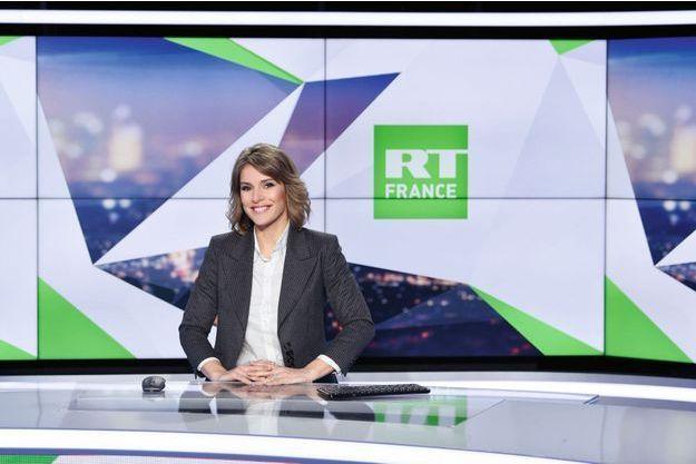 Stéphanie de Muru, présentatrice sur la chaîne russe RT France.