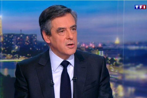 François Fillon au 20 Heures de TF1 jeudi soir.