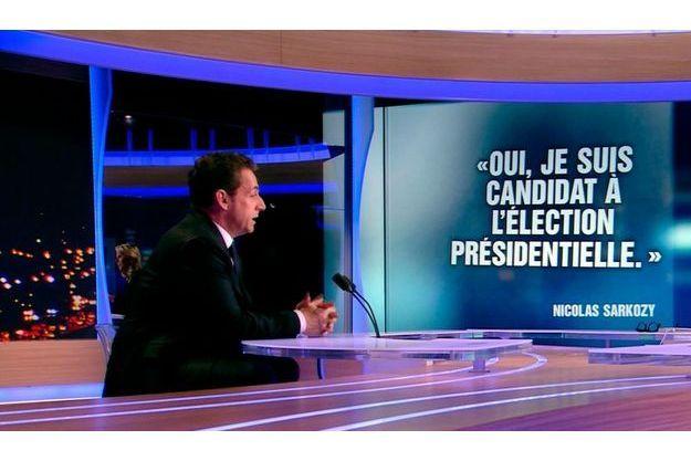 Nicolas Sarkozy, hier soir mercredi sur le plateau du JT de TF1, a annoncé sa candidature à un second mandat.