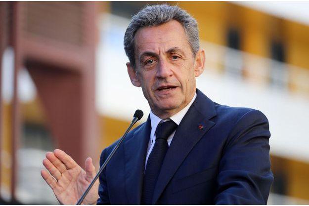 Nicolas Sarkozy mi-novembre à Nice.