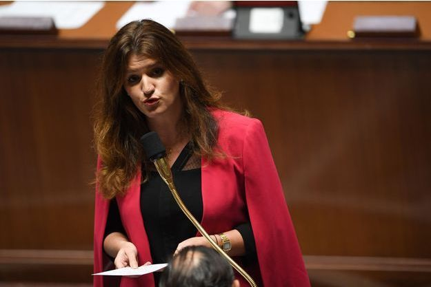La secrétaire d'État à l'Égalité entre les femmes et les hommes, Marlène Schiappa fin novembre à l'Assemblée.