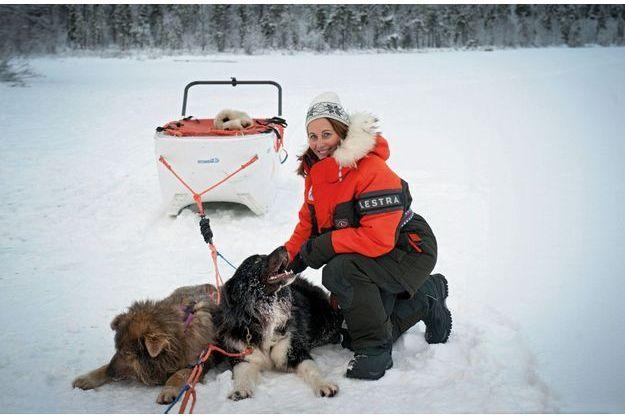 Ségolène Royal, au beau milieu d'un lac gelé, le 16 novembre à Ivalo, en Finlande.