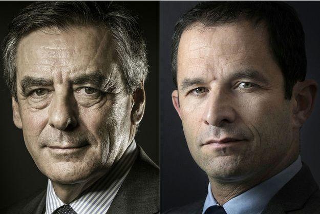 François Fillon et Benoît Hamon