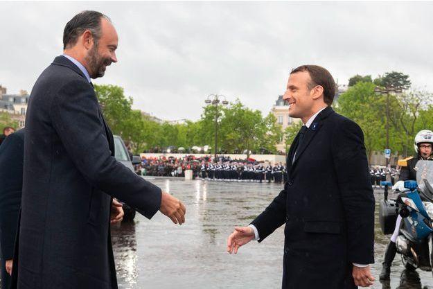 Edouard Philippe et Emmanuel Macron le 8 mai dernier à Paris.