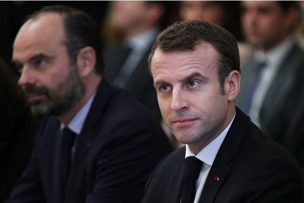 Edouard Philippe et Emmanuel Macron le 10 décembre dernier lors de consultations à l'Elysée.
