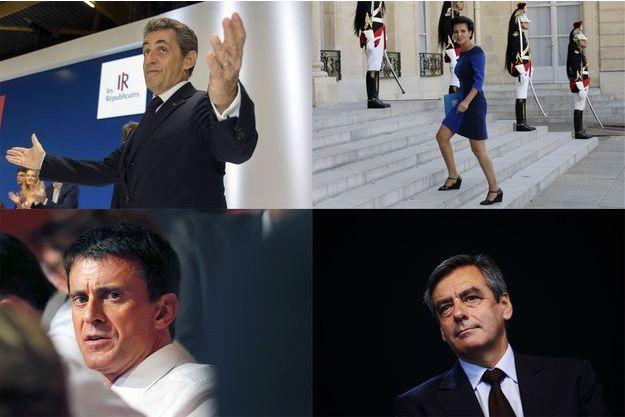 Nicolas Sarkozy, Najat Vallaud-Belkacem, Manuel Valls et François Fillon sont tous les quatre sanctionnés dans notre sondage.