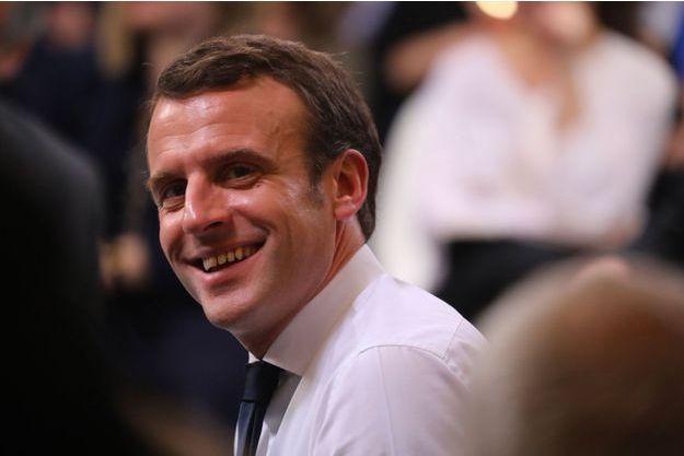 Emmanuel Macron à Evry-Courcouronnes, lundi soir.